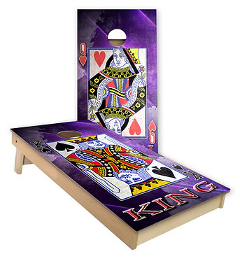 King and Queen Cards Cornhole Board Wrap