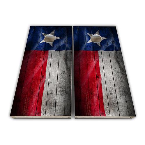 Distressed Texas Flag Cornhole Board Set Baggo Set