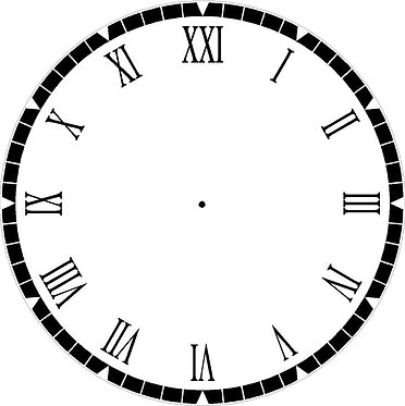 Black and White Clock Face Cornhole Decal Sticker