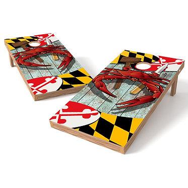 Maryland Crab Cornhole Board Wrap Baggo Corn Toss Wrap
