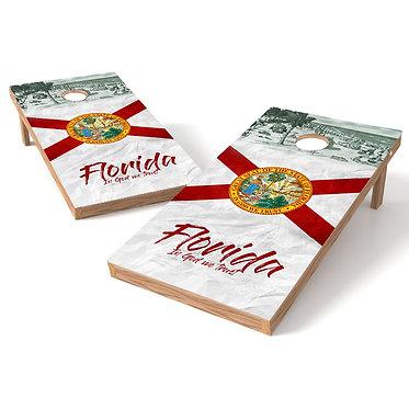 Florida State Flag Cornhole Wrap