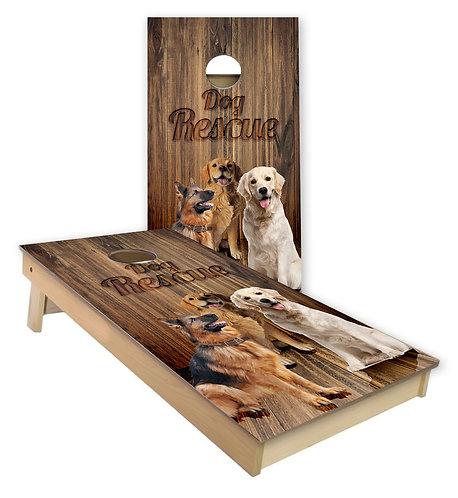 Dog Rescue Cornhole Board Wrap