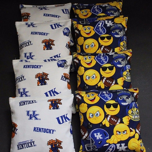 Kentucky Emoji and Wildcats Cornhole bags, set of (8)