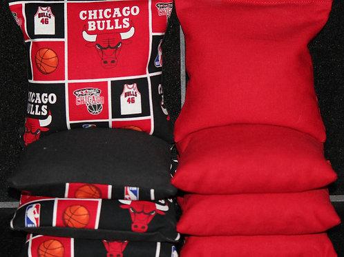 Chicago Bulls Cornhole bags, set of (8)