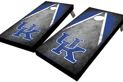 UNIVERSITY OF KENTUCKY DISTRESSED TRIANGLE CORNHOLE BOARD SET