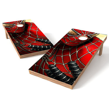 Spiderman Cornhole Board Wrap