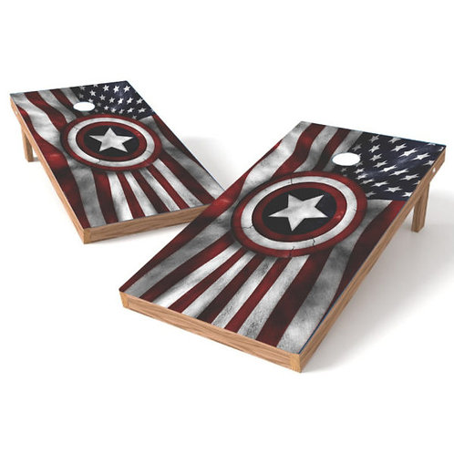 United States Flag with Army Star Cornhole Wrap