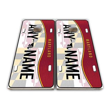 Maryland License Plate Cornhole Wrap Cornhole Decal - Customize