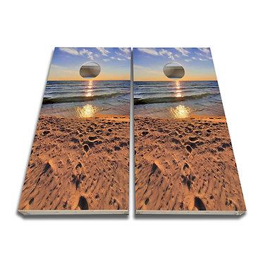 Lake Michigan Cornhole Board Decal Cornhole Skin