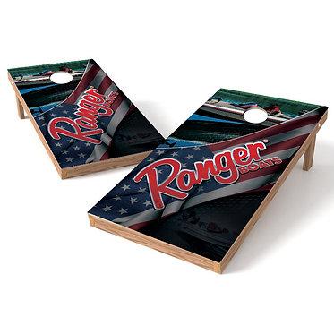 Ranger Boat Flag Cornhole Board Wrap Baggo Corn Toss Wrap