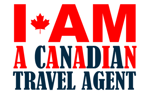 Canadian Travel Agent cornhole decal sticker