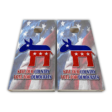 Save Our Country Vote for Democrats American Flag Cornhole Board Wrap