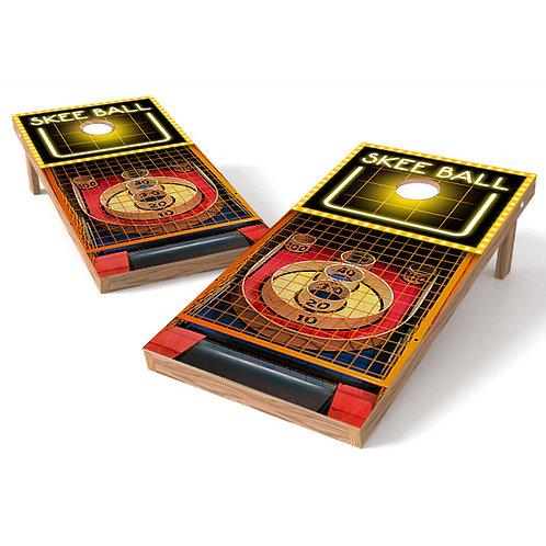 Skee Ball Classic Cornhole Board Wrap