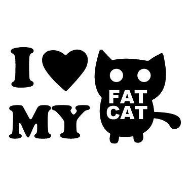 I love my Fat Cat Cornhole Decal Sticker