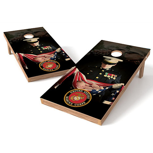 United States Marine Cornhole Wrap