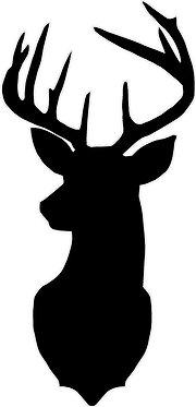 Deer Head Silhouette Decal Sticker