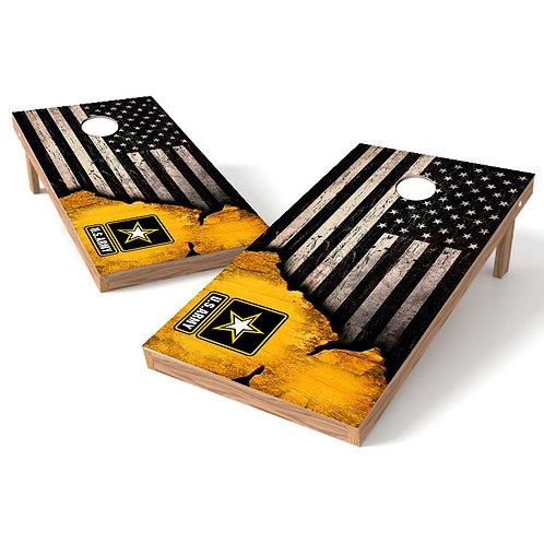 US Army Ripped Worn Flag Cornhole Wrap