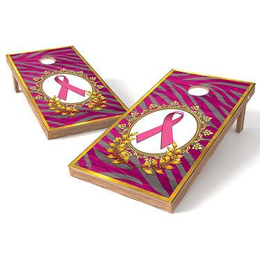 Breast Cancer Ribbon 1 Cornhole Wrap