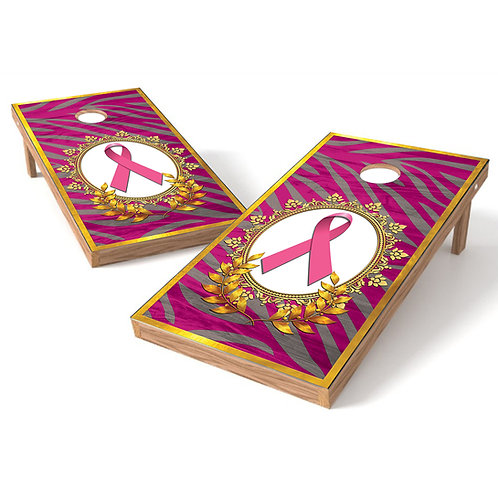 Breast Cancer Ribbon 1 Cornhole Wrap