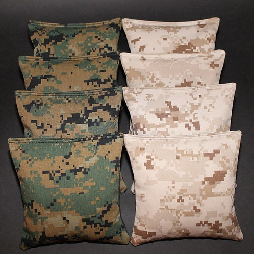 USMC Digital Camo Cornhole bags, set of (8)