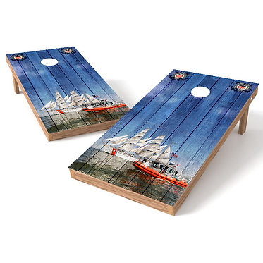 United States Coast Guard Cornhole Wrap