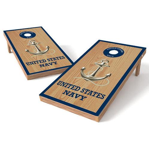 US Navy Wood Military Cornhole Wrap