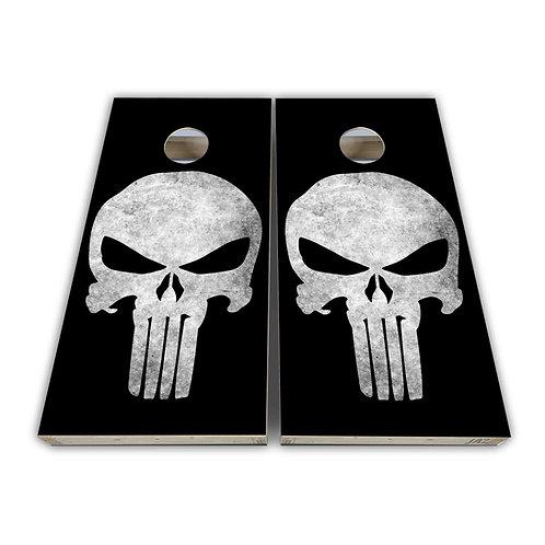 Gray Reaper Cornhole Board Set Baggo Set
