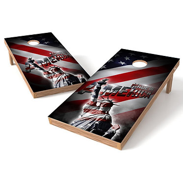 Made in America Statue of Liberty Cornhole Wrap