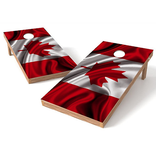 Waving Canada Flag Cornhole Board Wrap