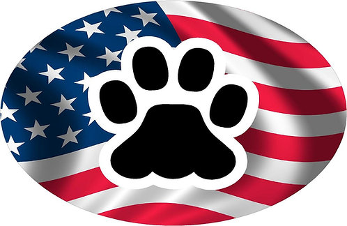 Flag Pet Paw Cornhole Board Decal Sticker