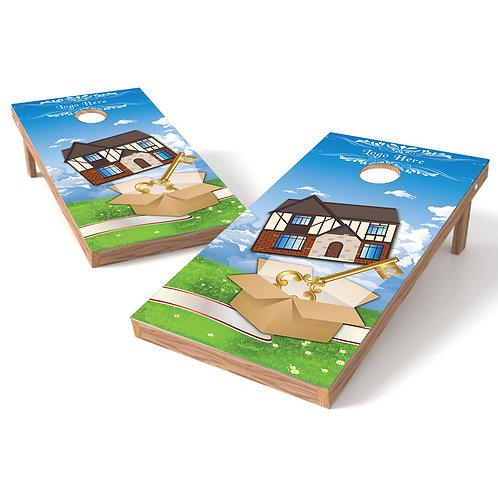 House Warming Gift Cornhole Wrap Baggo Corn Toss Wrap - Personalize Free