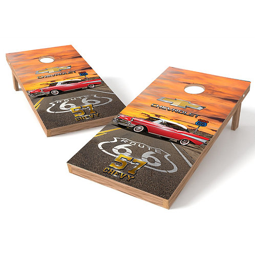 57 Chevy Cornhole Wrap Route 66 Cornhole Wrap