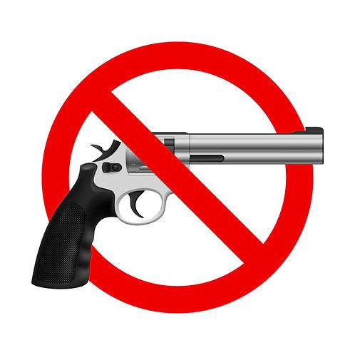 No Guns Allowed Cornhole Board Decal Sticker