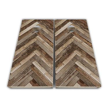 Wood Plank Design Baggo Skin Cornhole Wrap Decal