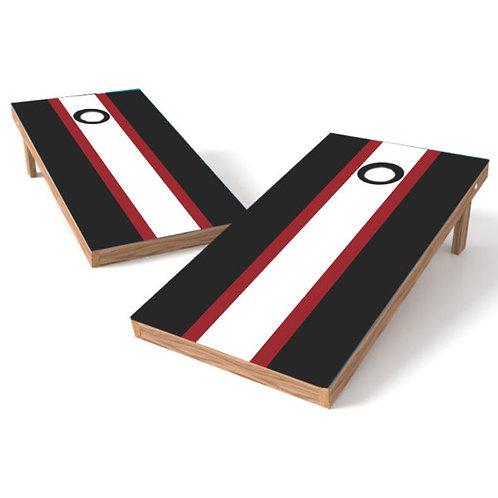 Black Red White Stripe -Customize