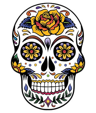 Sugar Skull Face Cornhole Decal Sticker