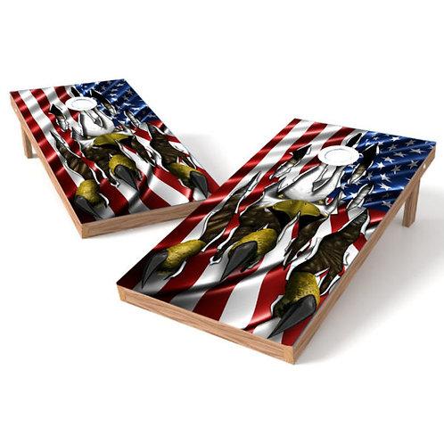 Claw Through American Flag