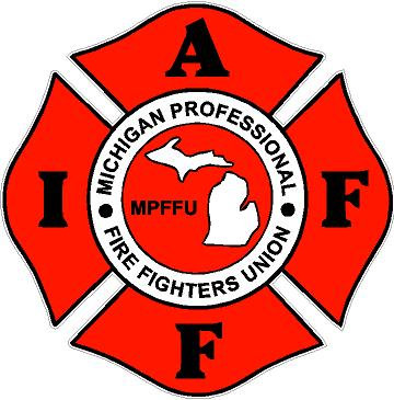 Michigan Professionals Fire Fighter Union Decal Sticker