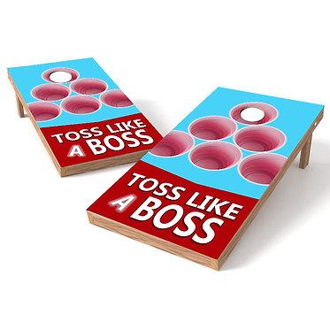 Toss Like a Boss Solo Cups Cornhole Board Wrap
