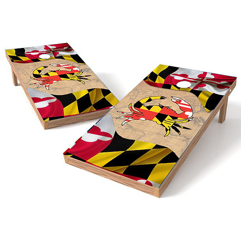 Baltimore Crab Maryland Map Cornhole Wrap