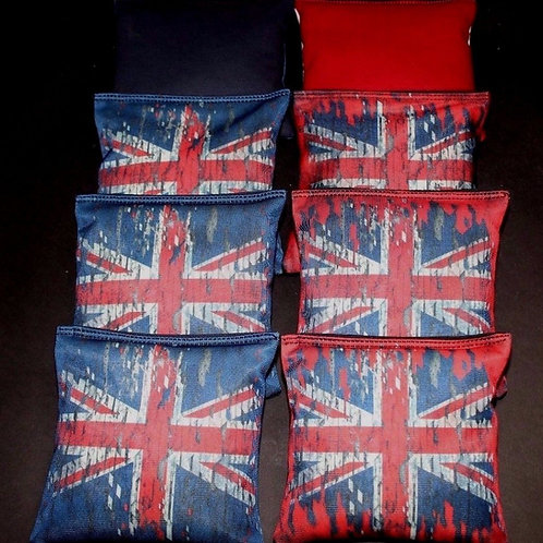 Union Jack UNITED KINGDOM GREAT BRITAIN FLAG Cornhole bags, set of (8)