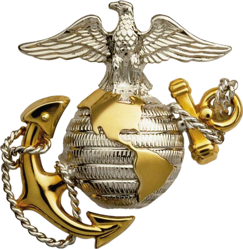 United Marine Corp Globe Decal Sticker