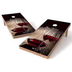Red Wine Cornhole Wrap
