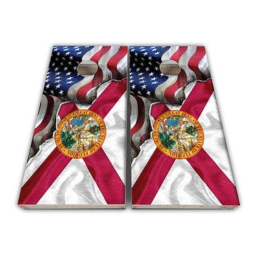 Florida Cornhole Florida State Flag American Flag Cornhole Board Wrap Dec