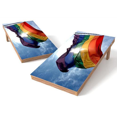 Rainbow Flag Wrap Cornhole Board Wrap