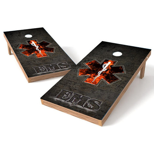 EMS Rock 1 Cornhole Board Wrap