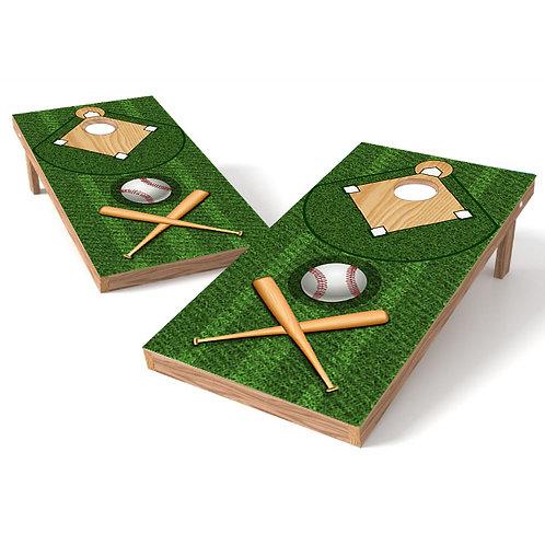 Baseball Diamond Cornhole Board Wrap