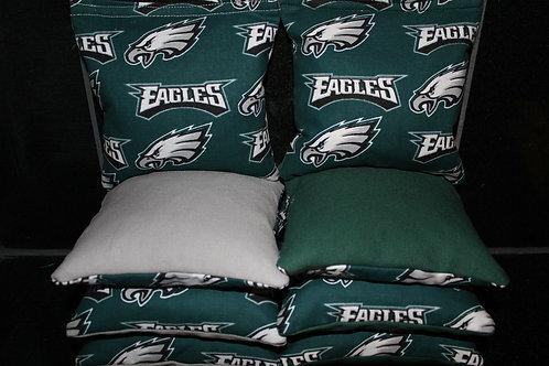 Eagles Cornhole bags, set of (8)