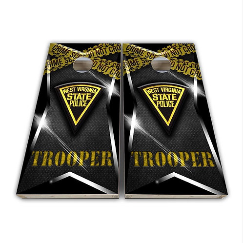 West Virginia State Police Cornhole Board Set Baggo Set