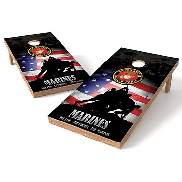 The Few The Proud The Marines Cornhole Wrap